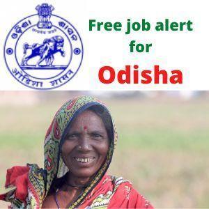 Free job alert for Odisha