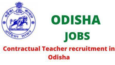 Contractual Teacher recruitment in Odisha