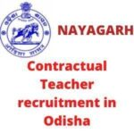 Contractual Teacher recruitment in Odisha