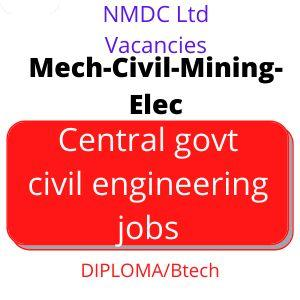 Central govt civil engineering jobs