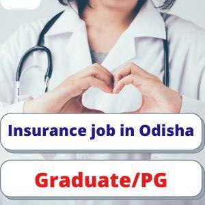 Insurance job in Odisha