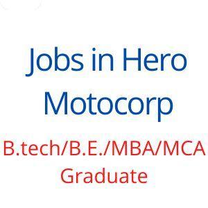 Jobs in Hero Motocorp