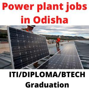 Power plant jobs in Odisha