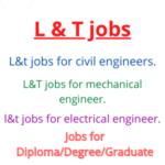 L & T jobs