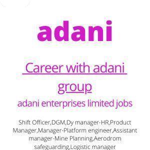 Career with adani group
