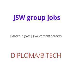 Career in JSW | JSW group jobs