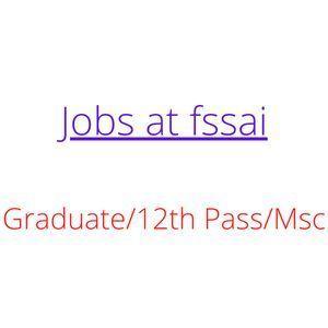 Jobs at fssai